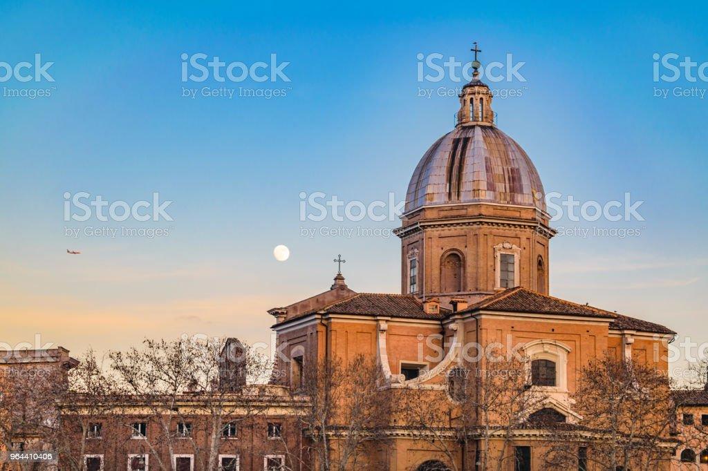 San Giovanni Battista dei Fiorentini Church, Rome, Italy - Royalty-free Ancient Stock Photo
