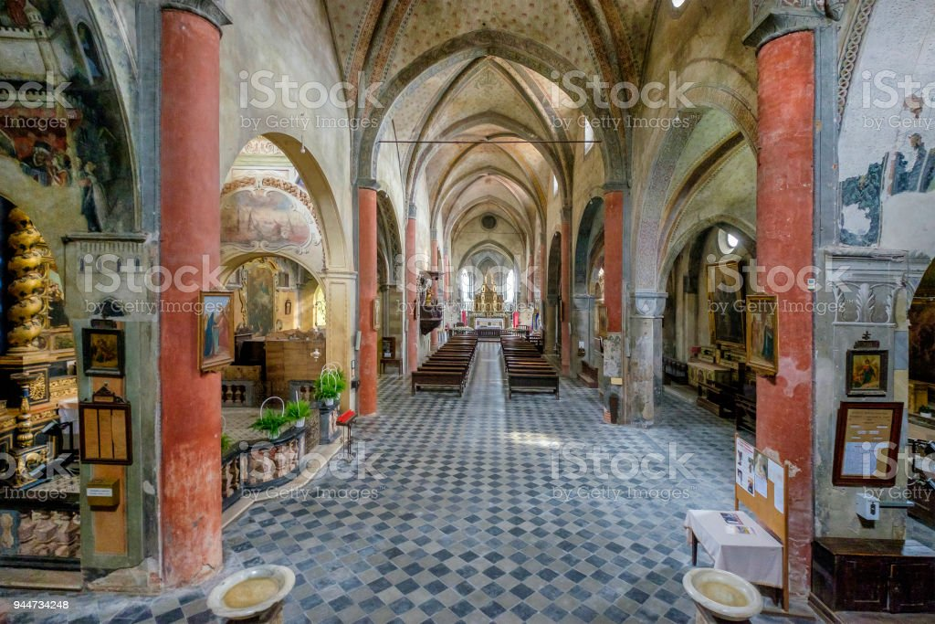 San Giovanni Church, a gothic style church dating to the XIII century. Saluzzo, Piedmont region, Italy stock photo