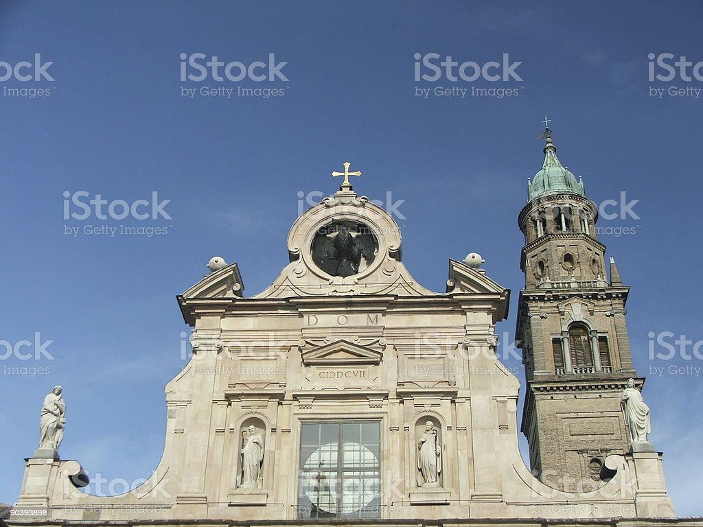 San Giovanni Church Parma royalty-free stock photo