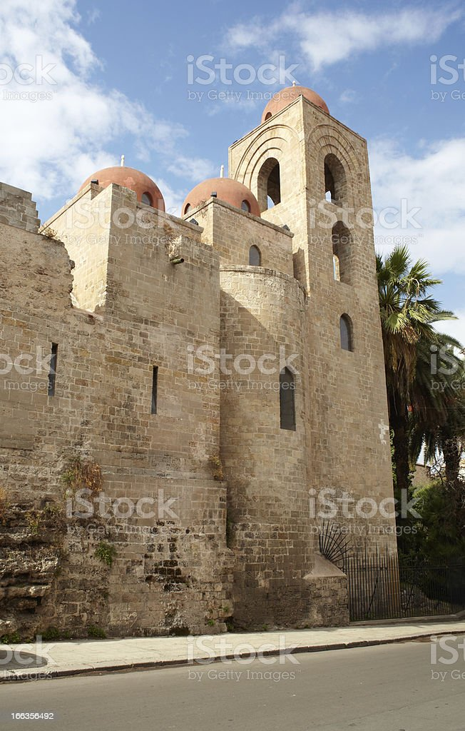San Giovanni degli Eremiti -St. John of the Hermits, Palermo stock photo