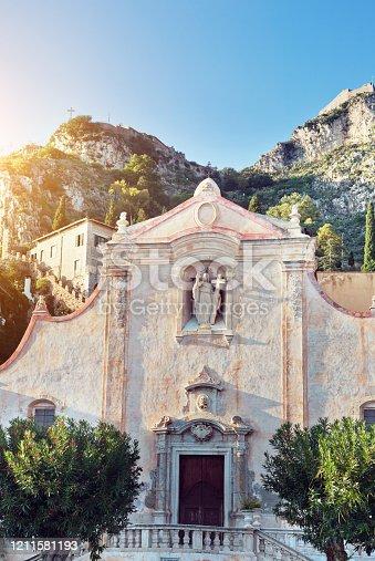 San Giuseppe church on the square Piazza IX Aprile in Taormina. Sicily, Italy