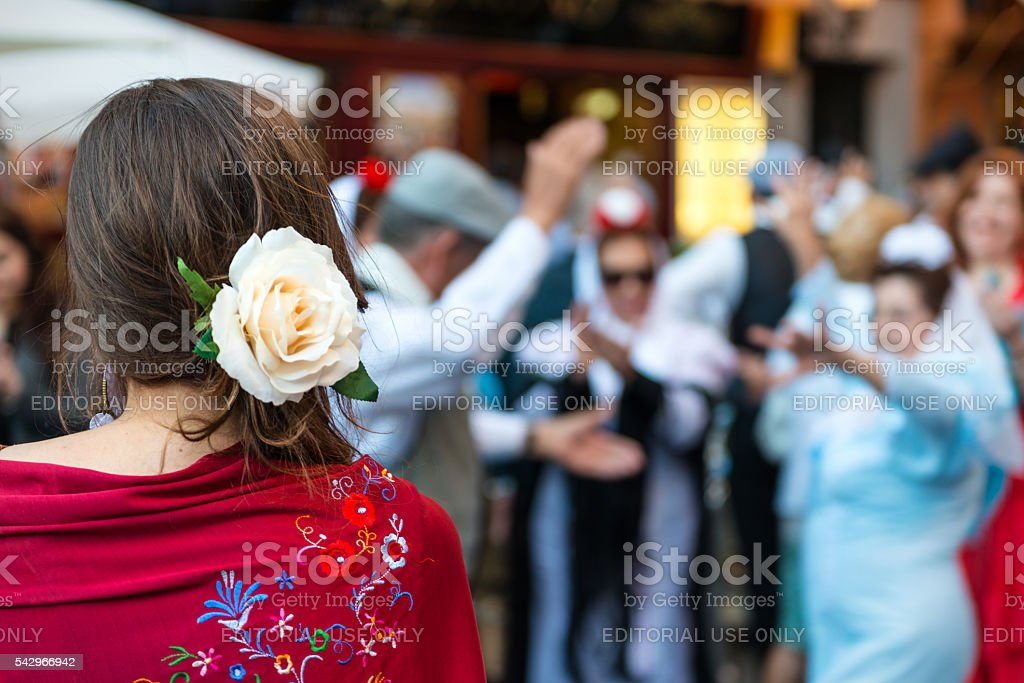 San Isidro religious festival in Madrid stock photo