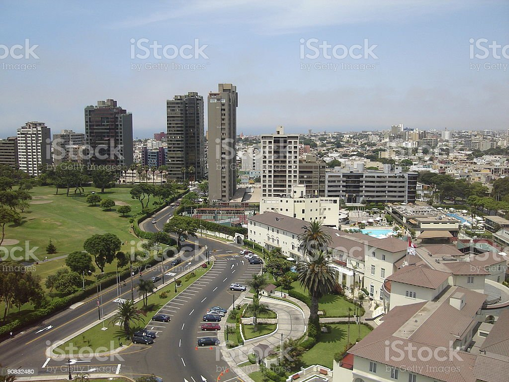 San Isidro view stock photo