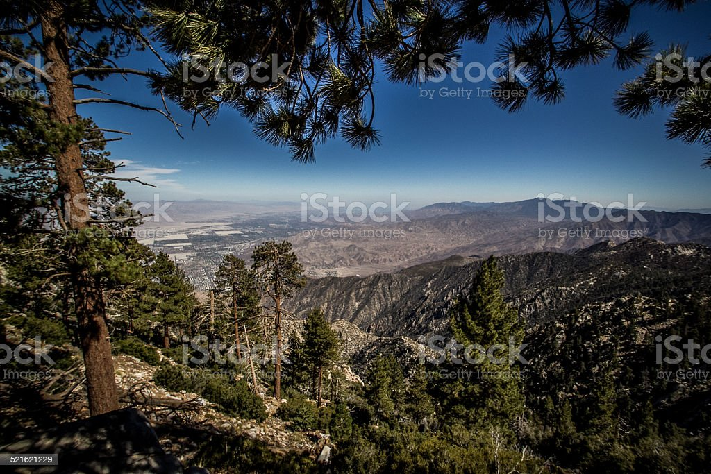 San Jacinto Wildlife Area view over Palm Springs stock photo