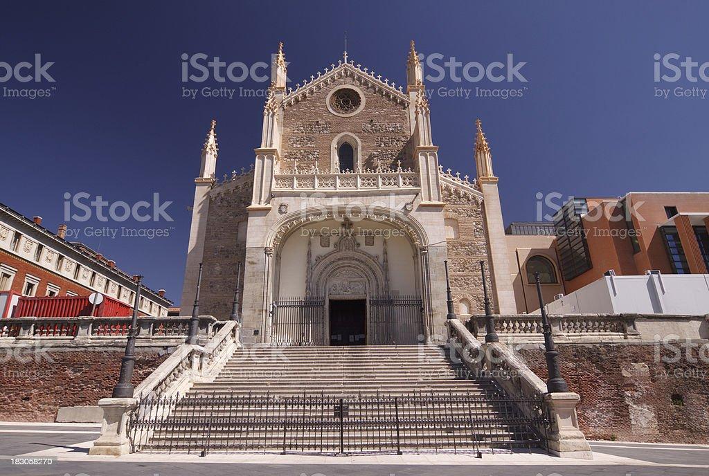 San Jerónimo el Real Church, Madrid stock photo