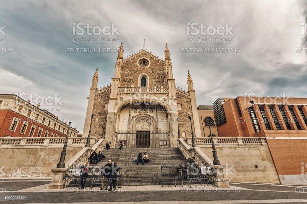 San Jerónimo el Real is a Roman Catholic church stock photo