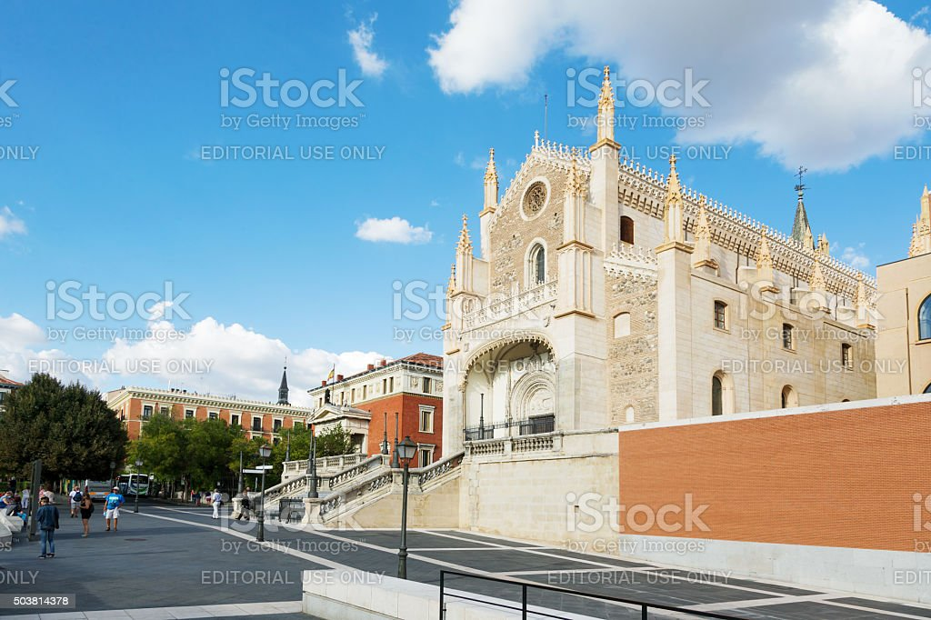 San Jerónimo el Real stock photo