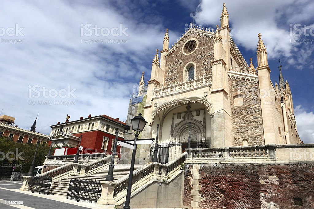 San Jeronimo el Real (St Geromimo the Royal)  in Madrid stock photo