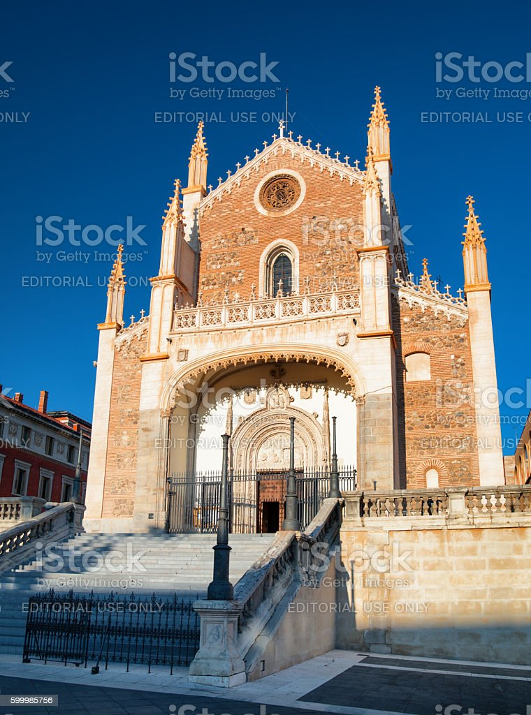 San Jeronimo el Real (St. Jerome Royal Church), Madrid, Spain stock photo
