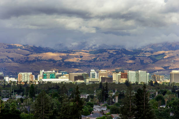 San Jose and Silicon Valley, Clearing Storm stock photo