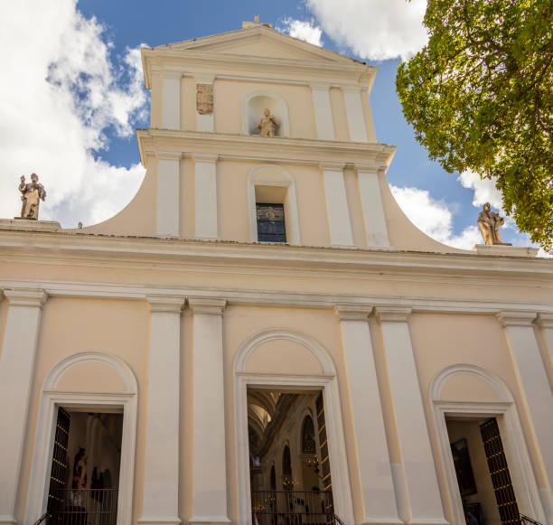 San Jose Church Old San Juan Puerto Rico stock photo