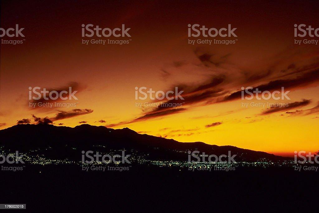 San Jose, Costa Rica at Sunset stock photo