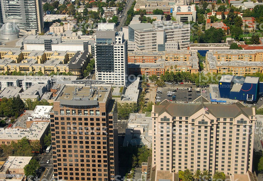 San Jose Downtown Overview royalty-free stock photo