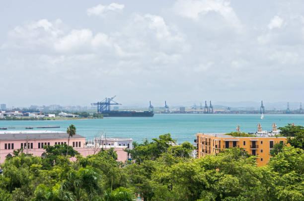San Juan Bay and Port Terminals stock photo