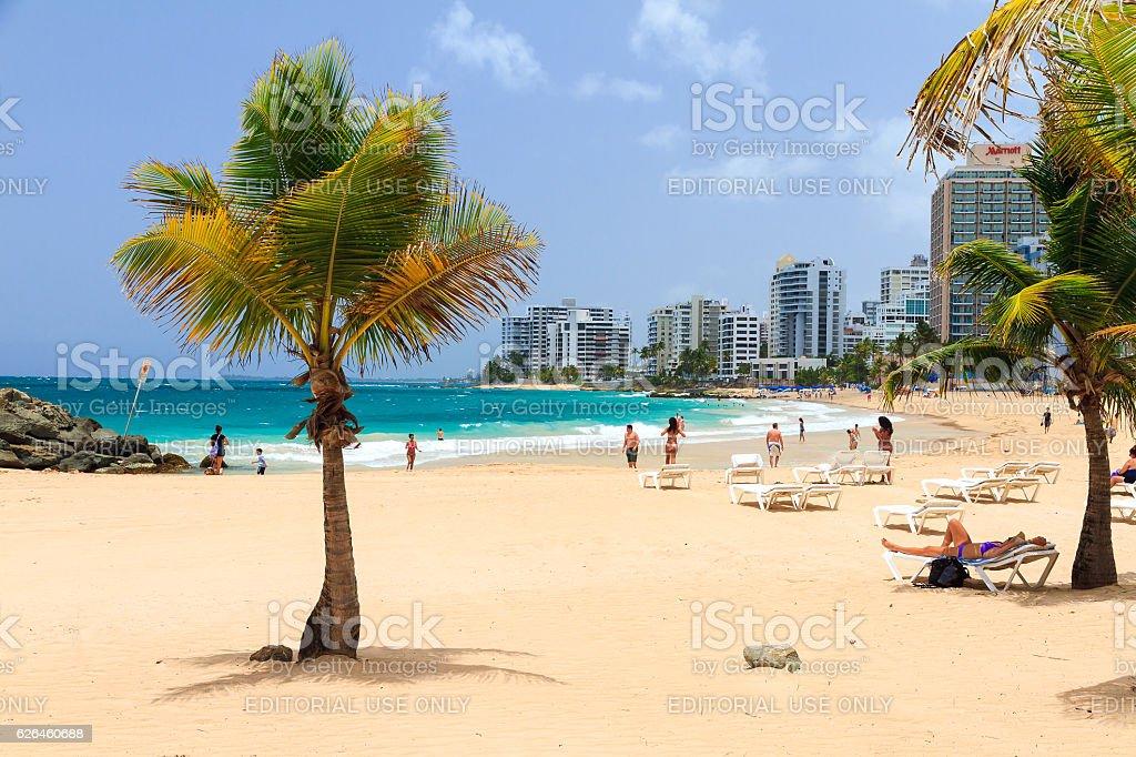 San Juan beach stock photo