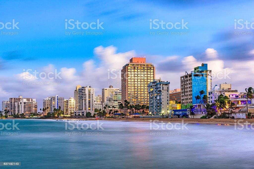 San Juan Beach Skyline stock photo