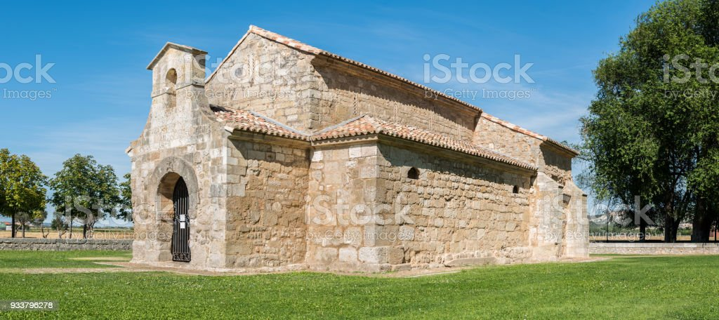 San Juan de Baños Chuch, Palencia stock photo