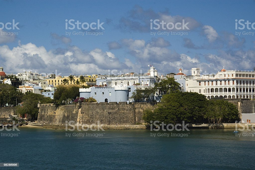 San Juan harbour. Puerto Rico royalty-free stock photo