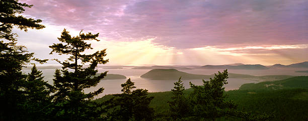 San Juan Island Overlook  puget sound stock pictures, royalty-free photos & images