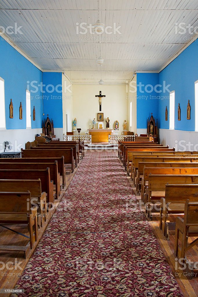 San Juan Mission - Lincoln, New Mexico royalty-free stock photo