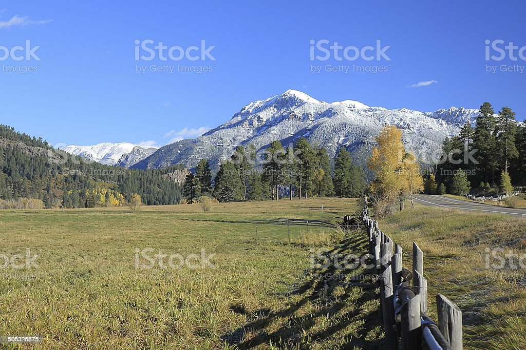San Juan Mountains and Highway 160 stock photo