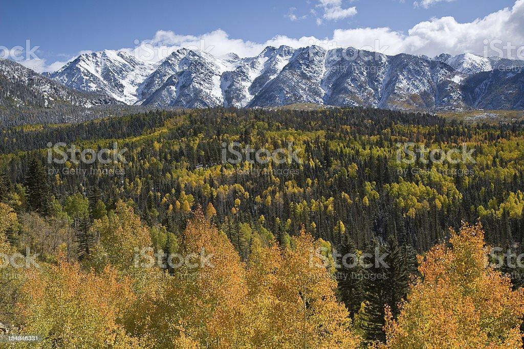 San Juan Mountains, Colorado in Autumn royalty-free stock photo