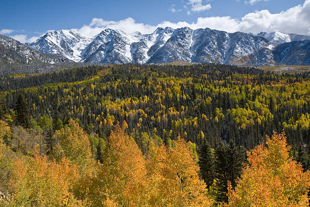 San Juan Mountains, Colorado in Autumn stock photo