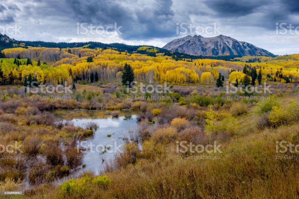 San Juan Mountains in Autumn stock photo