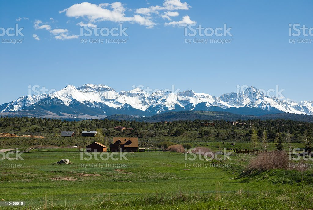 San Juan Mountains royalty-free stock photo