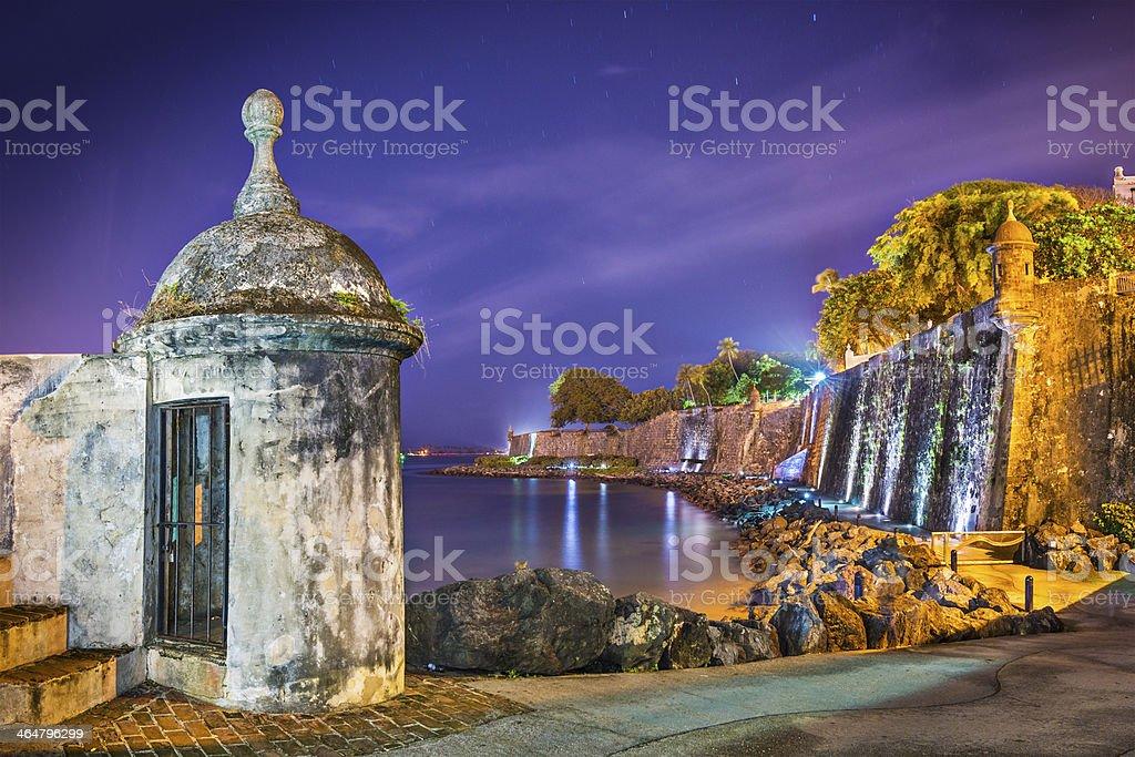 San Juan, Puerto Rico Coast stock photo