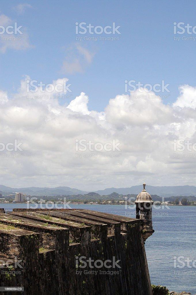 San Juan Puerto Rico El Morro Wall & Turret royalty-free stock photo