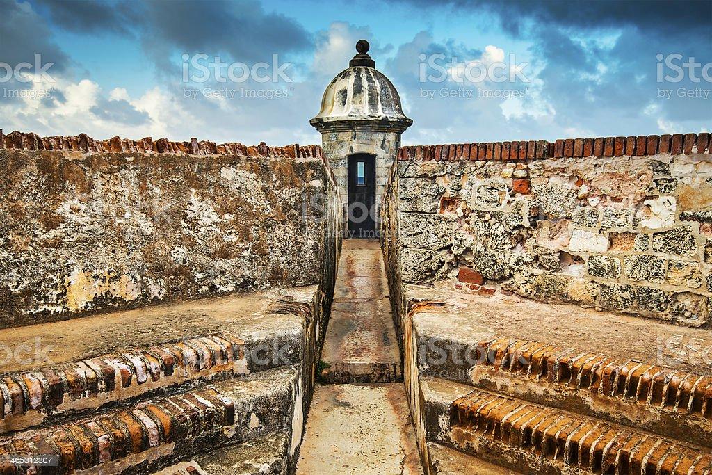 San Juan, Puerto Rico Lookout Tower stock photo