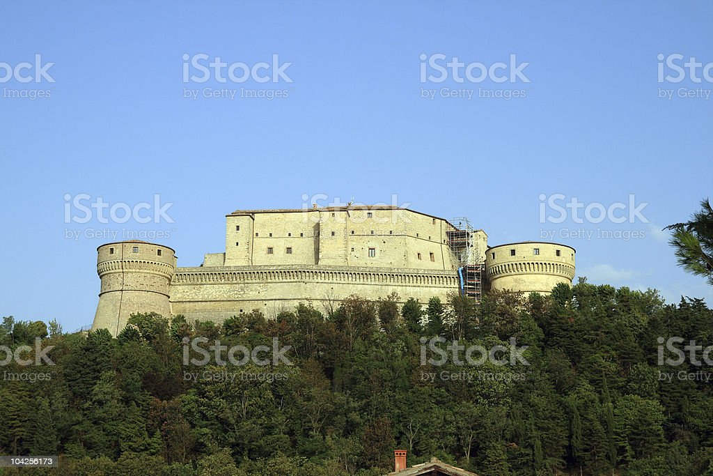 San Leo Fortess royalty-free stock photo