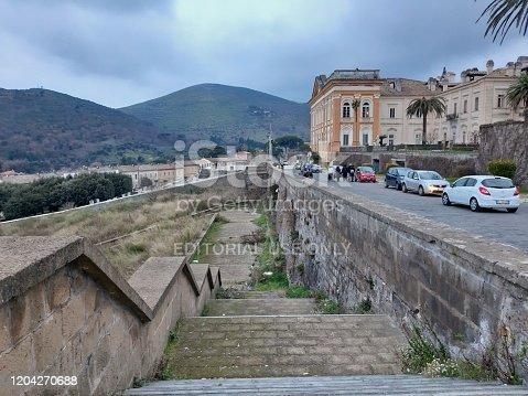 San Leucio, Caserta, Campania, Italy - February 2, 2020: Monumental complex of the Belvedere of San Leucio