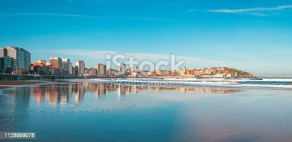 istock San Lorenzo Beach, Gijon, Asturias, Spain 1128869078