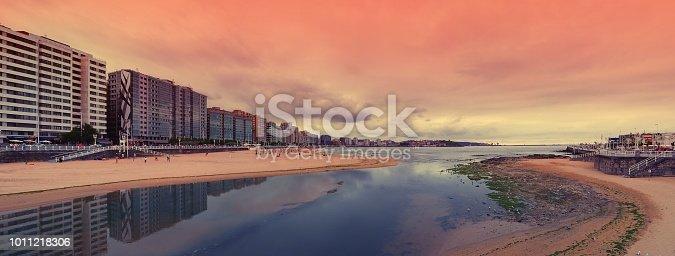 istock San Lorenzo beach in Gijon, Spain. 1011218306
