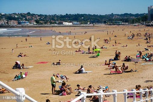 istock San Lorenzo beach view in Gijón, Spain 1135758215