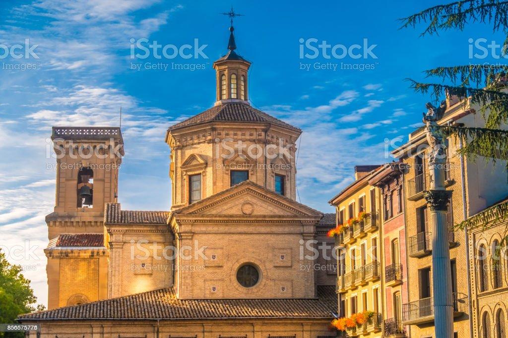 San Lorenzo church, Pamplona (Iruña), the historical capitalof Navarre, Spain, stock photo
