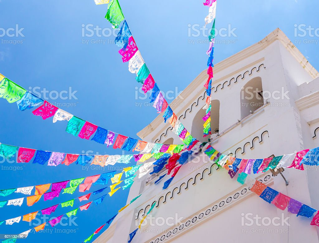 San Lorenzo church, Zinacantan, Chiapas, Mexico stock photo