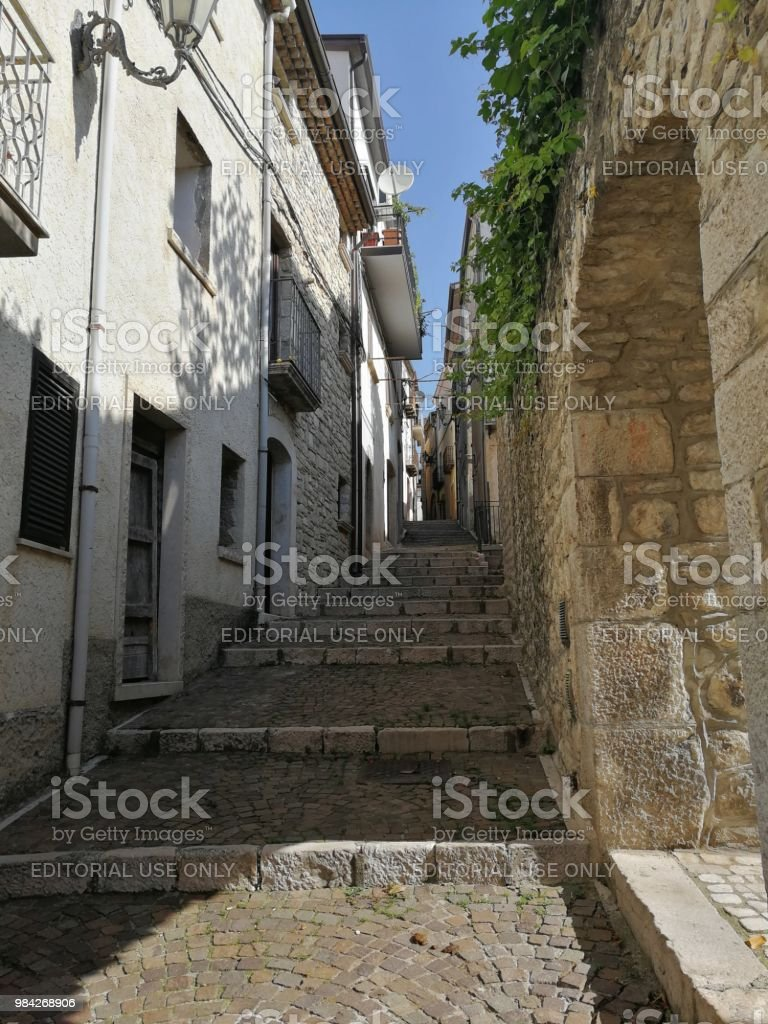 San Lupo - Ramp of the historical center - foto stock