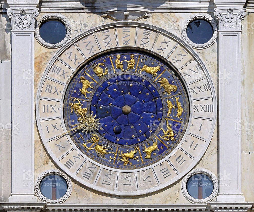 San Marco astrology clock stock photo