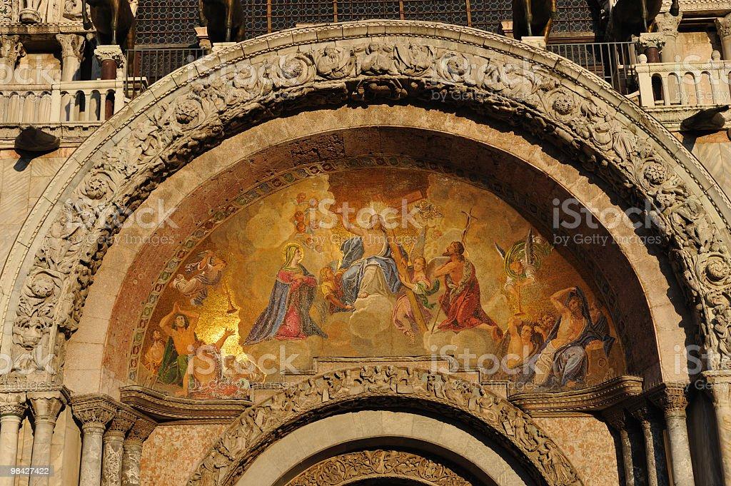 San Marco basilica in Venice royalty-free stock photo