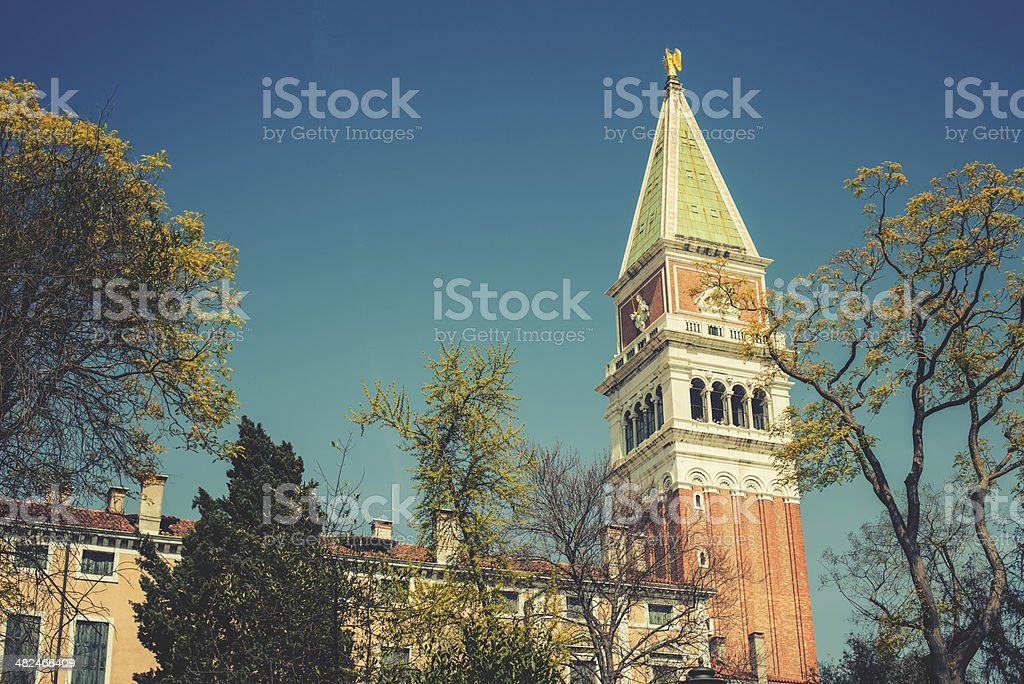 San marco bell tower in venice royalty-free stock photo
