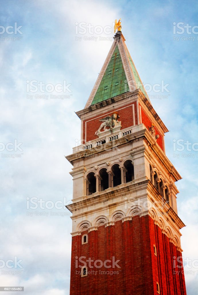 San Marco Bell tower, Venice stock photo