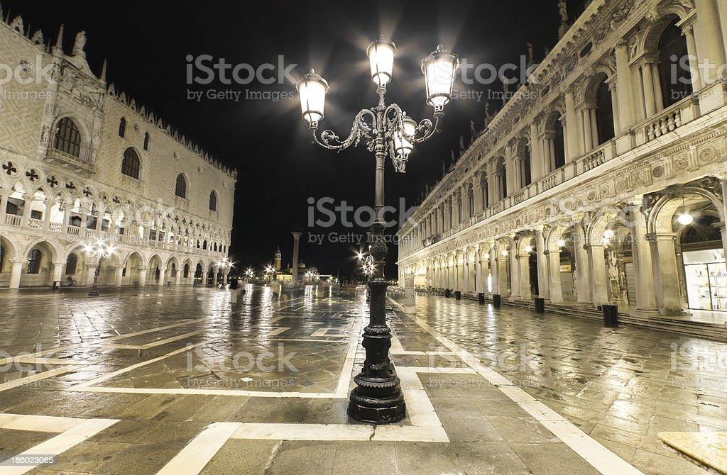 San Marco square at night, Venice, Italy. royalty-free stock photo