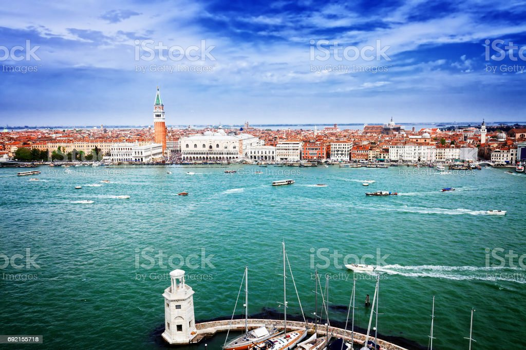 San Marco square waterfront, Venice stock photo