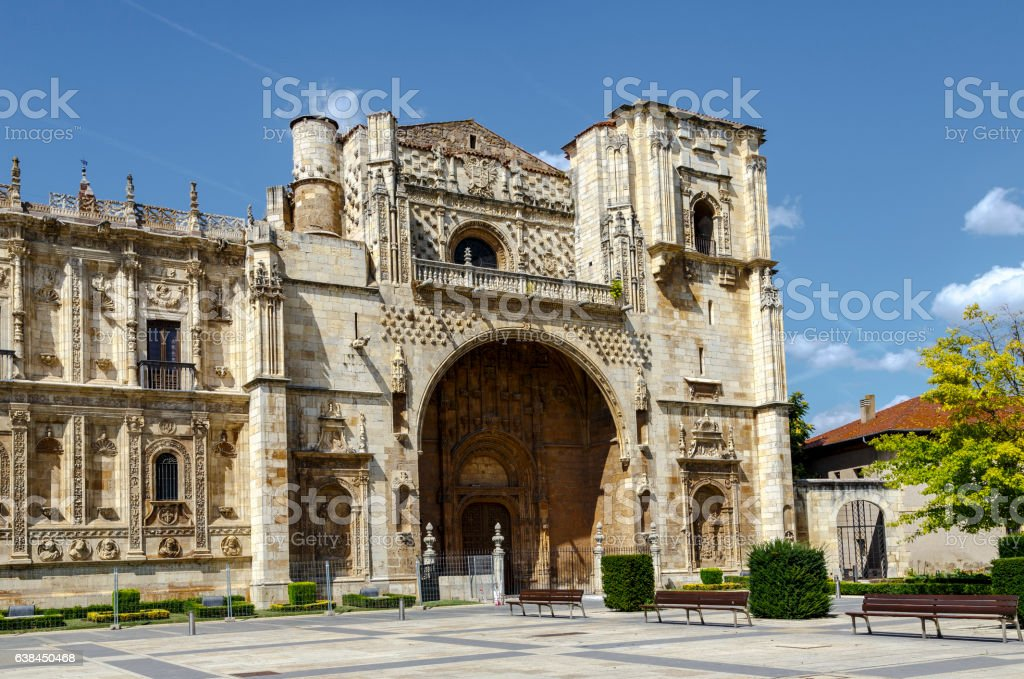 San Marcos Monastery of the sixteenth century in San Marcos stock photo