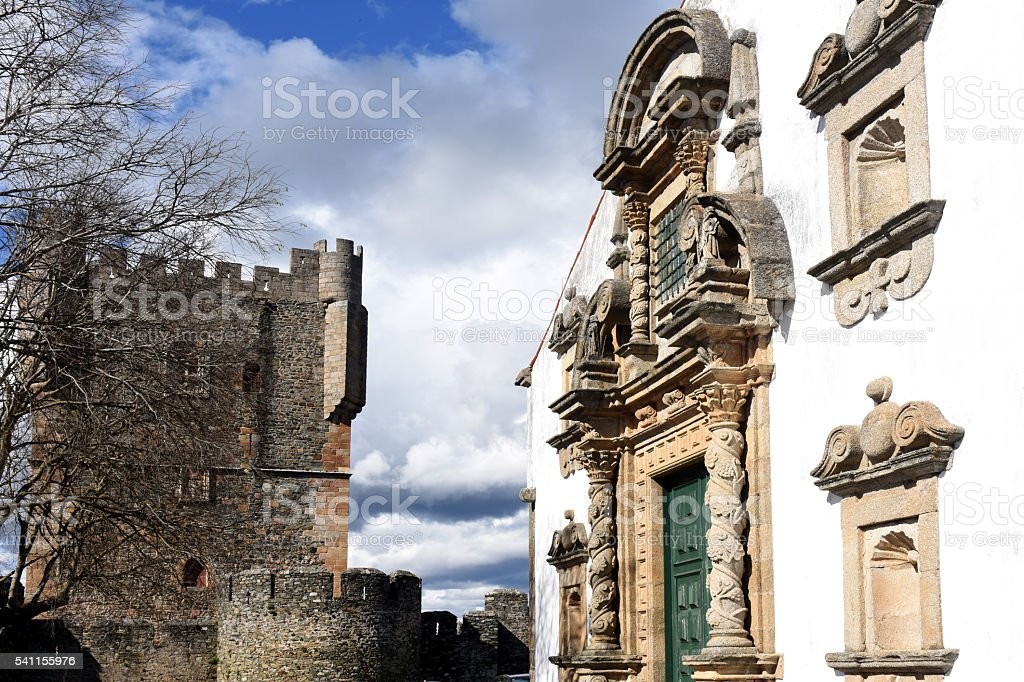 San Maria Church, Braganca, Tras-os-Montes, Portugal stock photo
