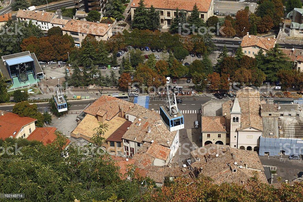 San Marino Aerial tramway royalty-free stock photo