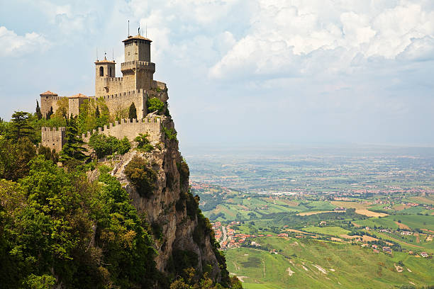san marino castle - castle stock pictures, royalty-free photos & images